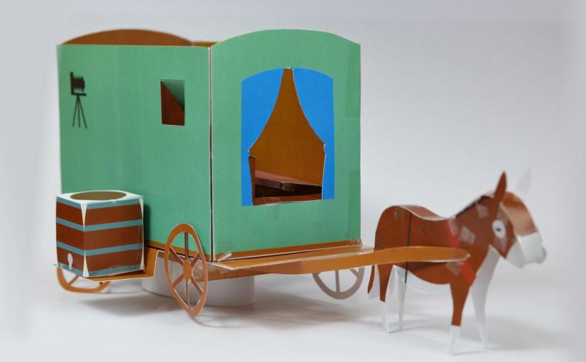 ペリーヌの馬車のペーパークラフト